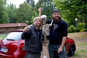Die Personen von links nach rechts: Sascha, Peter (ein Mitglied der Piraten vom letzten Jahr) und Ulf