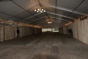 Das VIP-Zelt eignet sich auch als Ballsaal