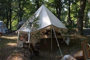 Das Workshop-Zelt heute.