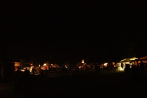 Nachtansicht des Marktes