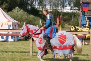 Schmucke Ritter, schmucke Pferdln