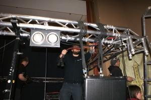 Egal ob auf dem Goldberg oder hier, die Bühnen werden vom Team Creative Showtechnik professionell aufgebaut