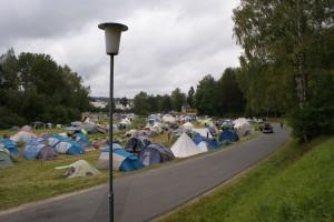 Gut gefüllter Campingplatz