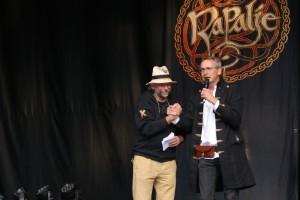 Bläcky und der Selber Oberbürgermeister Uli Pötzsch