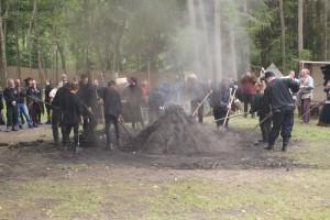 Die Lösch wird abgegraben