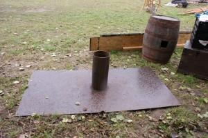 Das ist die Platte und die Halterung für den Mast