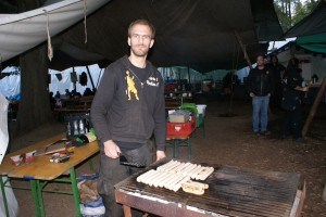 Sven grillt für die Vegatarier...